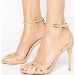 Steve Madden stecy nude heeled sandals